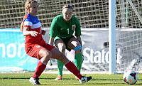 Fotball <br /> La Manga<br /> 28.02.2015<br /> Foto: Morten Olsen/Digitalsport<br /> <br /> Women U23 tournament<br /> Landskamp kvinner U23<br /> Norge v USA / Norway v USA 0:2<br /> <br /> Nora Neset Gjøen (1) - Norge