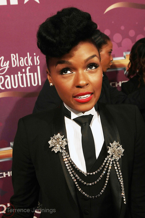 October 13, 2012- Bronx, NY: Recording Artist Janelle Monae at the Black Girls Rock! Awards Red Carpet presented by BET Networks and sponsored by Chevy held at the Paradise Theater on October 13, 2012 in the Bronx, New York. BLACK GIRLS ROCK! Inc. is 501(c)3 non-profit youth empowerment and mentoring organization founded by DJ Beverly Bond, established to promote the arts for young women of color, as well as to encourage dialogue and analysis of the ways women of color are portrayed in the media. (Terrence Jennings)