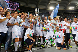 Feb 23, 2016 - Rome, Italy - This evening in Rome at the Olympic Stadium, Juventus and Lazio teams dealt face-to-face with the winning Super Cup of Italy, the TIM tournament. The victory went to Lazio. (Credit Image: © Fabio Sasso via ZUMA Wire)