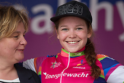 Nicole Steigenga of Swaboladies.nl won the combativity jersey after Stage 3 of the Healthy Ageing Tour - a 154.4 km road race, between  Musselkanaal and Stadskanaal on April 7, 2017, in Groeningen, Netherlands.