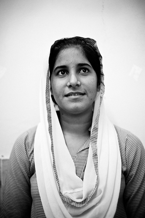 Sajida Rehman, 18 years old, has always been interested in medicine and hopes to continue studying and improving her knowledge.