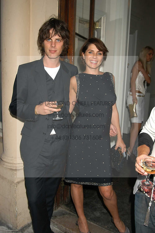 SADIE FROST and JACKSON SCOTT at the Tatler Summer Party in association with Moschino at Home House, 20 Portman Square, London W1 on 29th June 2005.<br />