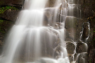 Detailed shot of Eureka Falls flowing into Silverhope Creek near Hope, British Columbia.