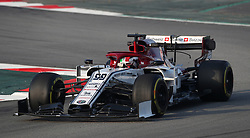 Sauber's Antonio Giovinazzi during day four of pre-season testing at the Circuit de Barcelona-Catalunya.
