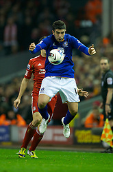 LIVERPOOL, ENGLAND - Tuesday, March 13, 2012: Everton's Denis Stracqualursi during the Premiership match against Liverpool at Anfield. (Pic by David Rawcliffe/Propaganda)