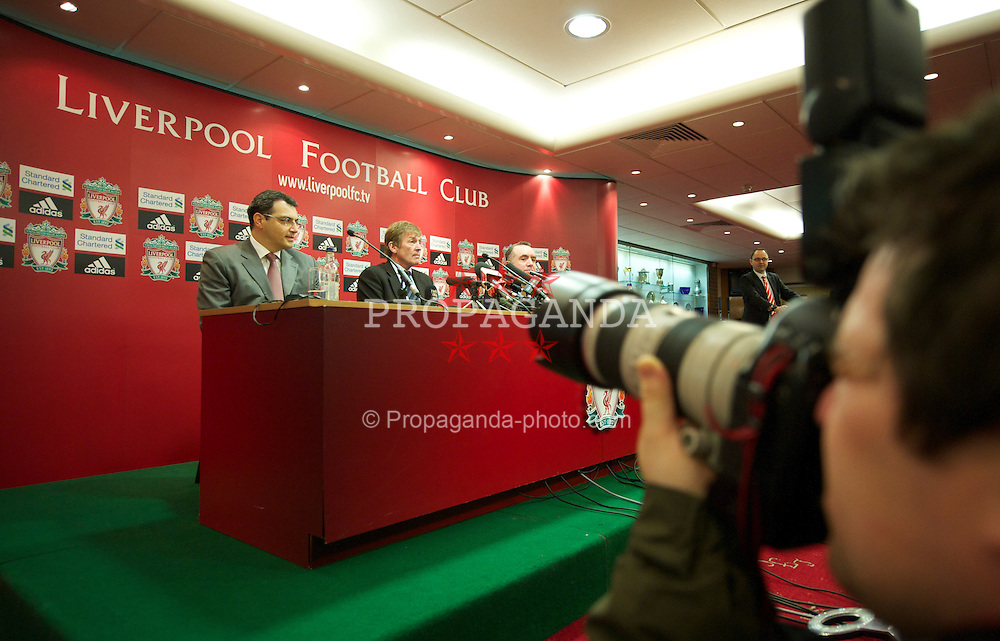 LIVERPOOL, ENGLAND - Monday, January 10, 2011: Liverpool's new manager Kenny Dalglish pictured during a press conference to official announce his appointment at Anfield. (Pic by: David Rawcliffe/Propaganda)