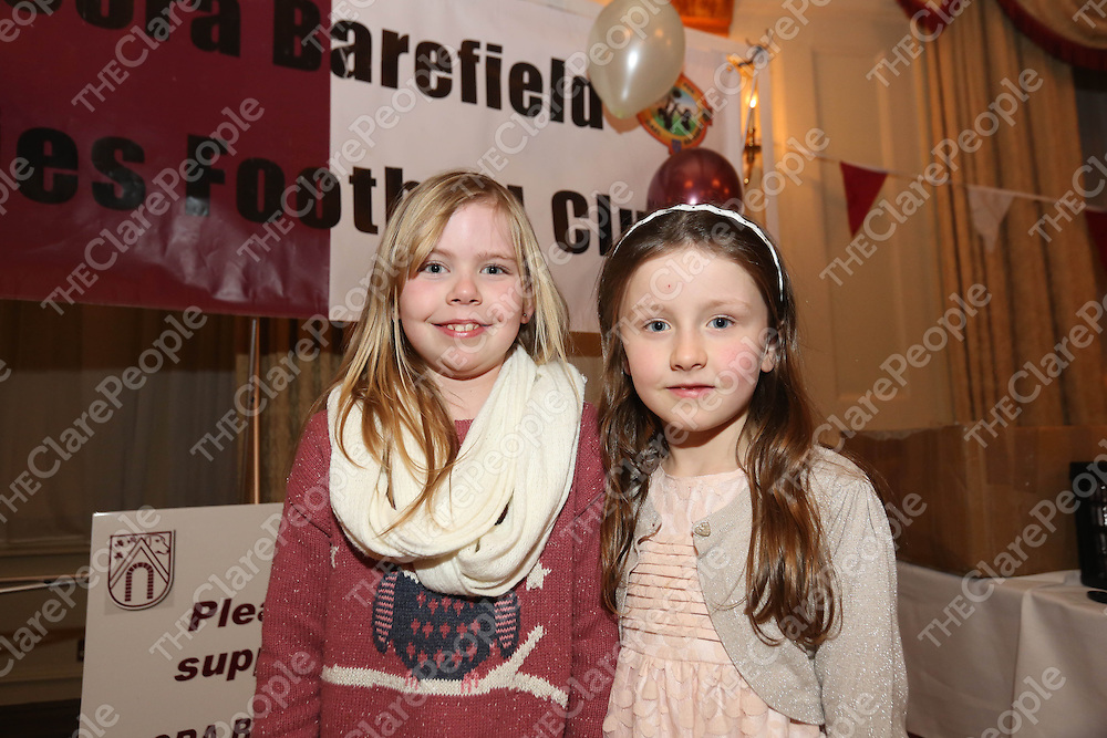Aisling McDonnagh and Lucy Power pictured at the DooraB for the Ladies Football Medal Presentation at the Old Ground Hotel on Saturday.<br /> Pic. Brian Arthur/ Press 22.