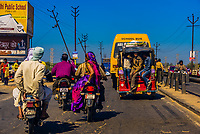 Scenes along a highway in Uttar Pradesh, India.