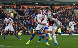 Ashley Barnes of Burnley (R) has a shot at goal - Mandatory by-line: Jack Phillips/JMP - 30/11/2019 - FOOTBALL - Turf Moor - Burnley, England - Burnley v Crystal Palace - English Premier League