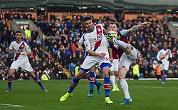 Ashley Barnes of Burnley (R) has a shot at goal - Mandatory by-line: Jack Phillips/JMP - 30/11/2019 - FOOTBALL - Turf Moor - Burnley, England - Burnley v Crystal Palace - English Premier League