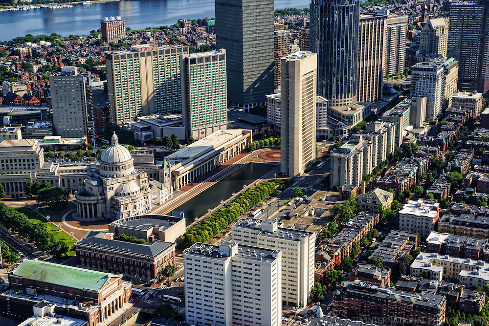 Back Bay featuring the Christian Science Plaza & Symphony Hall