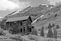 Mansion at Animas Forks up in the mountains above Silverton, Colorado