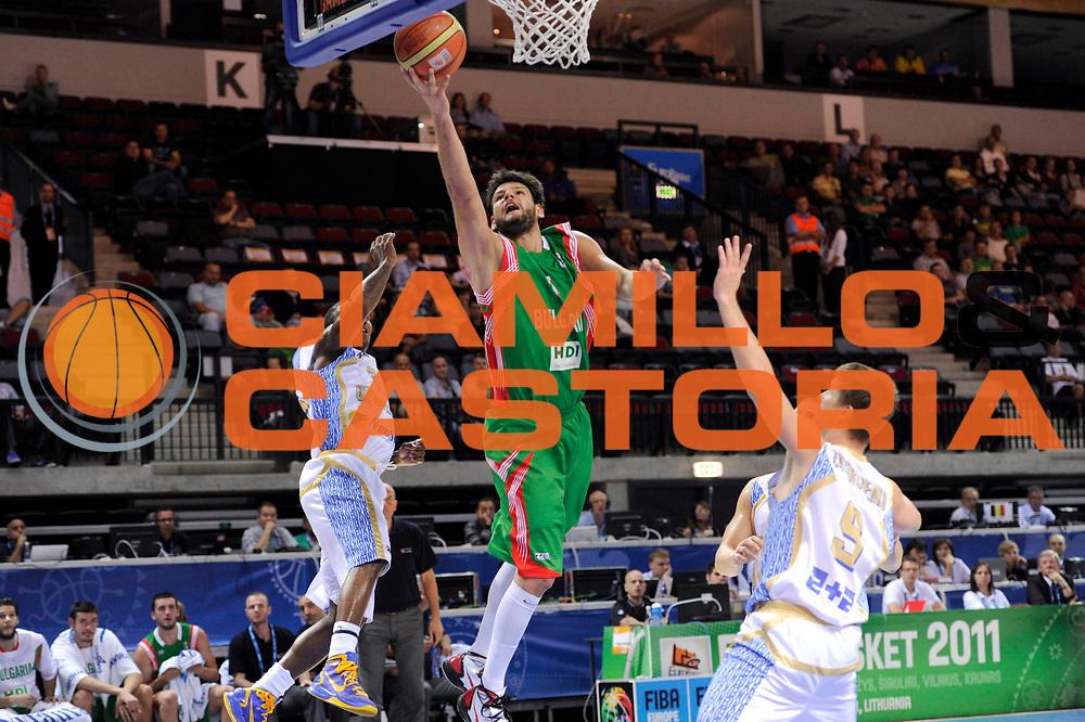 DESCRIZIONE : Klaipeda Lithuania Lituania Eurobasket Men 2011 Preliminary Round Ucraina Bulgaria Ukraine Bulgaria<br /> GIOCATORE : Dejan Ivanov<br /> SQUADRA : Bulgaria<br /> EVENTO : Eurobasket Men 2011<br /> GARA : Ucraina Bulgaria Ukraine Bulgaria<br /> DATA : 03/09/2011<br /> CATEGORIA : tiro penetrazione<br /> SPORT : Pallacanestro <br /> AUTORE : Agenzia Ciamillo-Castoria/C.De Massis<br /> Galleria : Eurobasket Men 2011<br /> Fotonotizia : Klaipeda Lithuania Lituania Eurobasket Men 2011 Preliminary Round Ucraina Bulgaria Ukraine Bulgaria<br /> Predefinita :