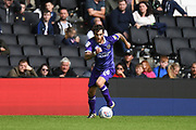 Shrewsbury Town midfielder Romain Vincelot (16) sprints forward with the ball during the EFL Sky Bet League 1 match between Milton Keynes Dons and Shrewsbury Town at stadium:mk, Milton Keynes, England on 10 August 2019.