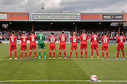 Minutes applause for David Longhurst during the Sky Bet League 2 match between York City and Carlisle United at Bootham Crescent, York, England on 19 September 2015. Photo by Simon Davies.