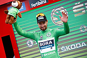 Podium Peter Sagan (SVK - Bora - Hansgrohe) green leader jersey during the 73th Edition Tour of Spain, Vuelta Espana 2018, stage 10 cycling race, Salamanca - Fermoselle Bermillo de Sayago 177 km on September 4, 2018 in Spain - Photo Luca Bettini / BettiniPhoto / ProSportsImages / DPPI