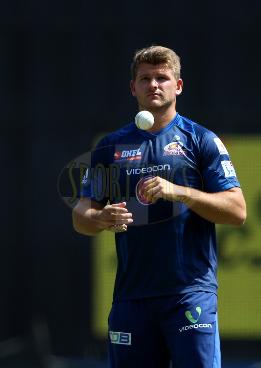 Corey Anderson of the Mumbai Indians during the practise session of the match 22 of the Pepsi Indian Premier League Season 2014 between the Mumbai Indians and the Kings XI Punjab held at the Wankhede Cricket Stadium, Mumbai, India on the 3rd May  2014<br /> <br /> Photo by Vipin Pawar / IPL / SPORTZPICS<br /> <br /> <br /> <br /> Image use subject to terms and conditions which can be found here:  http://sportzpics.photoshelter.com/gallery/Pepsi-IPL-Image-terms-and-conditions/G00004VW1IVJ.gB0/C0000TScjhBM6ikg