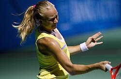 Sofia Arvidsson  of Sweden at 2nd Round of Doubles at Banka Koper Slovenia Open WTA Tour tennis tournament, on July 21, 2010 in Portoroz / Portorose, Slovenia. (Photo by Vid Ponikvar / Sportida)
