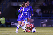 Gillingham midfielder Bradley Dack during the Sky Bet League 1 match between Gillingham and Walsall at the MEMS Priestfield Stadium, Gillingham, England on 12 April 2016. Photo by Martin Cole.