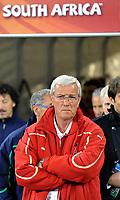 L'allenatore Marcello Lippi (Italia)<br /> Italia Paraguay - Italy vs Paraguay<br /> Campionati del Mondo di Calcio Sudafrica 2010 - World Cup South Africa 2010 <br /> Green Point Stadium, Città del Capo - Cape Town, 14 / 06 / 2010<br /> © Giorgio Perottino / Insidefoto