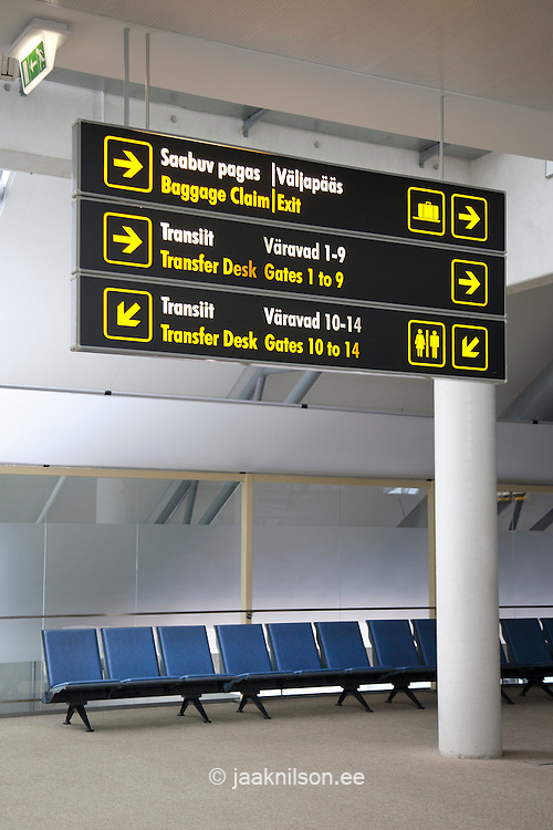 airport directional signs