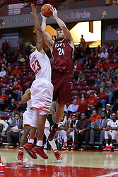 26 November 2016:  Evan Hall works his way to the hoop while defended by Deontae Hawkins(23) during an NCAA  mens basketball game between the IUPUI Jaguars the Illinois State Redbirds in a non-conference game at Redbird Arena, Normal IL