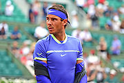 Rafael Nadal (ESP) gets ready to play during the preliminary rounds of the Roland Garros Tennis Open 2017 at  at Roland Garros Stadium, Paris, France on 2 June 2017. Photo by Jon Bromley.