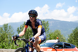 Rachel Neylan (AUS) on the first climb of Stage 5 of 2019 Giro Rosa Iccrea, a 88.8 km road race from Ponte in Valtellina to Lago di Cancano, Italy on July 9, 2019. Photo by Sean Robinson/velofocus.com
