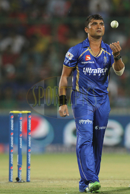 Pravin Tambe of the Rajatshan Royals during match 23 of the Pepsi Indian Premier League Season 2014 between the Delhi Daredevils and the Rajasthan Royals held at the Feroze Shah Kotla cricket stadium, Delhi, India on the 3rd May  2014<br /> <br /> Photo by Deepak Malik / IPL / SPORTZPICS<br /> <br /> <br /> <br /> Image use subject to terms and conditions which can be found here:  http://sportzpics.photoshelter.com/gallery/Pepsi-IPL-Image-terms-and-conditions/G00004VW1IVJ.gB0/C0000TScjhBM6ikg