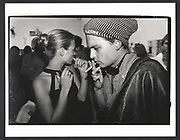 Kate Moss & Johnny Depp. Kate Moss book party. James Danziger Gallery. Prince St. New York. 11 September 1995.Exhibition in a Box