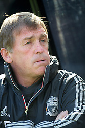 NEWCASTLE-UPON-TYNE, ENGLAND - Sunday, April 1, 2012: Liverpool's manager Kenny Dalglish before the Premiership match against Newcastle United at St James' Park. (Pic by David Rawcliffe/Propaganda)