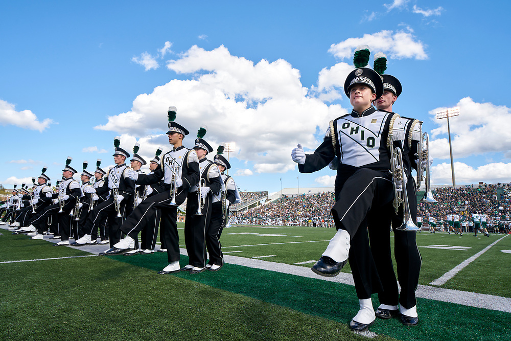 The Marching 110 leaves the field after Pregame.