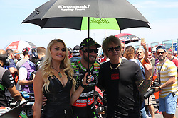 July 8, 2018 - Misano, Italy, Italy - 66 Tom Sykes GBR Kawasaki ZX-10RR Kawasaki Racing Team WorldSBK and Billy Morrison during the Motul FIM Superbike Championship - Italian Round  Sunday race during the World Superbikes - Circuit PIRELLI Riviera di Rimini Round, 6 - 8 July 2018 on Misano, Italy. (Credit Image: © Fabio Averna/NurPhoto via ZUMA Press)