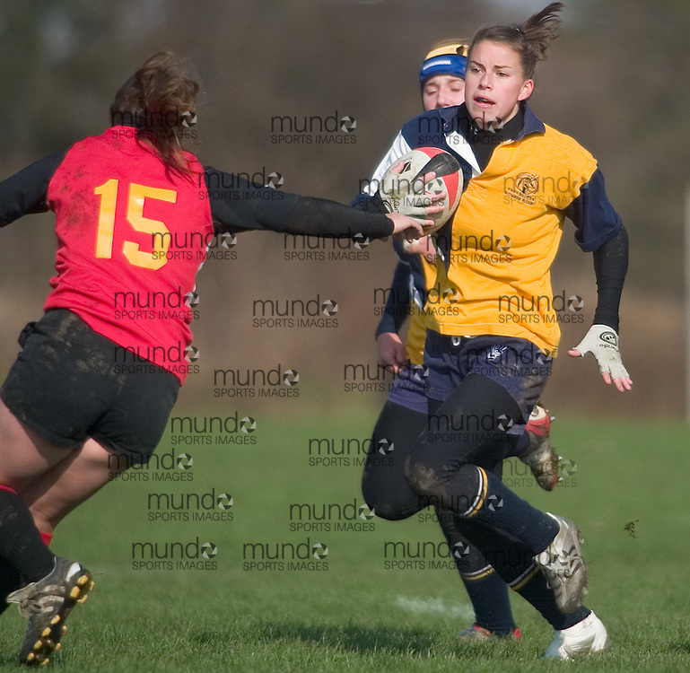 The Guelph Gryphons take on the Lethbridge Pronghorns on Saturday November 4, 2006 at the CIS Women's Rugby Championships in London, Ontario.