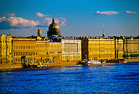 Neva River (St. Isaac's Cathedral in background), St. Petersburg, Russia