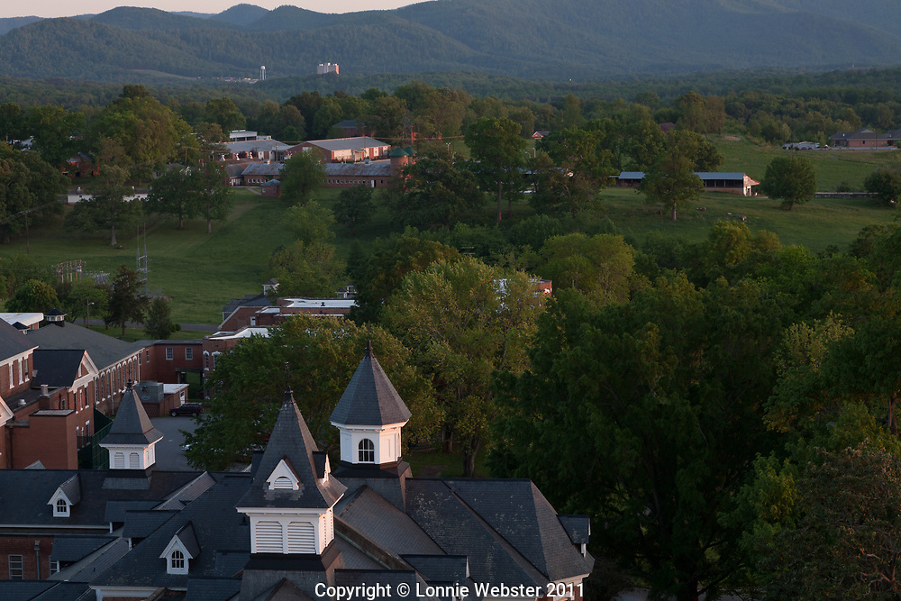 View from Dome of Broughton Hospital Avery Building in Morganton NC