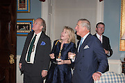 DAVID CAMPBELL;  HON HANNAH ROTHSCHILD; THE PRINCE OF WALES; Everyman 25th Anniversary party, Spencer House. St. James' Place. London. SW1. 26 October 2016