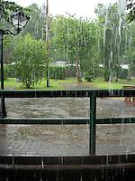 Heavy rain........
