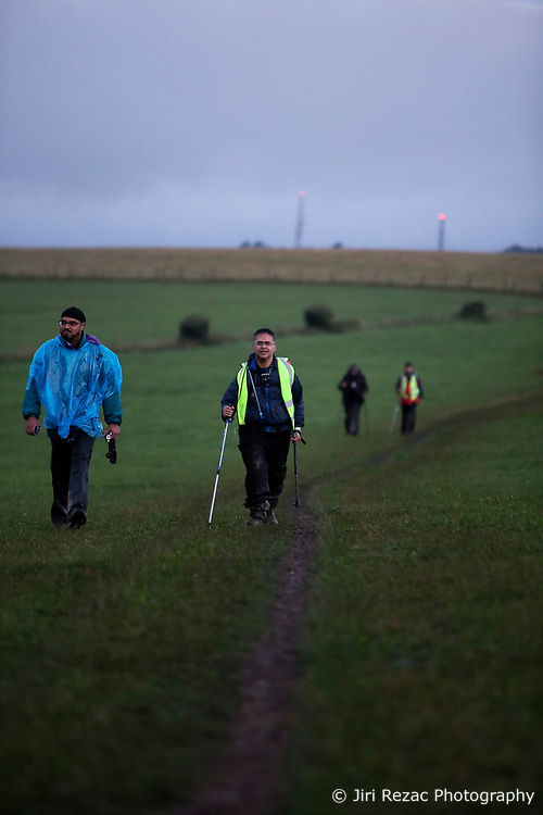 UK ENGLAND 30JUL17 - Hikers arrive at checkpoint 7 at Devil's Dyke during the Trailwalker 2017 challenge across the South Downs, England.<br /> <br /> jre/Photo by Jiri Rezac<br /> <br /> © Jiri Rezac 2017