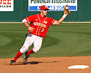 Nebraksa second baseman Jake Opitz fields a ground ball in the bottom of the ninth against Kansas State.  Nebraska held on to beat Kansas State 5-4 at Tointon Stadium in Manhattan, Kansas, April 1, 2006.