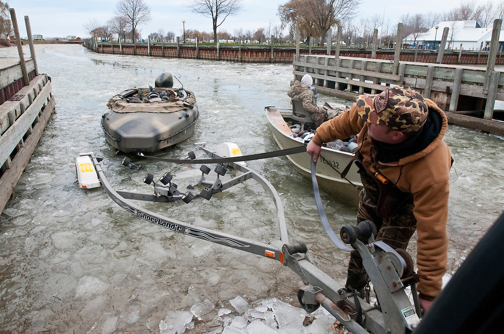 Ice, boat ramp, Ontario, Canada