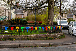 Messages of support are still evident around Penicuik<br /> <br /> People are finding ways to cope with the lockdown in Midlothian.