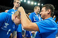 "Katowice, Poland - 2017 September 03: (R) SO Ambassador Vladimir ""Vanja"" Grbic a former Serbian volleyball player (he won a gold medal in the 2000 Summer Olympics and a bronze medal in 1996 at Atlanta) with SO Finland while Awarding Ceremony during European Unified Volleyball Tournament 2017 at Spodek Hall on September 03, 2017 in Katowice, Poland.<br /> <br /> Adam Nurkiewicz declares that he has no rights to the image of people at the photographs of his authorship.<br /> <br /> Picture also available in RAW (NEF) or TIFF format on special request.<br /> <br /> Any editorial, commercial or promotional use requires written permission from the author of image.<br /> <br /> Image can be used in the press when the method of use and the signature does not hurt people on the picture.<br /> <br /> Mandatory credit:<br /> Photo by © Adam Nurkiewicz / Mediasport"