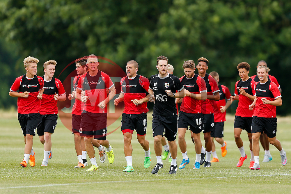 Bristol City return to training ahead of their 2015/16 Sky Bet Championship campaign - Photo mandatory by-line: Rogan Thomson/JMP - 07966 386802 - 01/07/2015 - SPORT - Football- Bristol, England - Failand Training Ground - Sky Bet Championship.