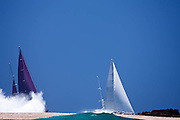 Avalon and Baracuda racing in the St. Barth's Bucket Regatta.