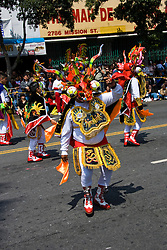 California: San Francisco Carnaval festival parade in the Mission District. Photo copyright Lee Foster. Photo # 30-casanf81151b