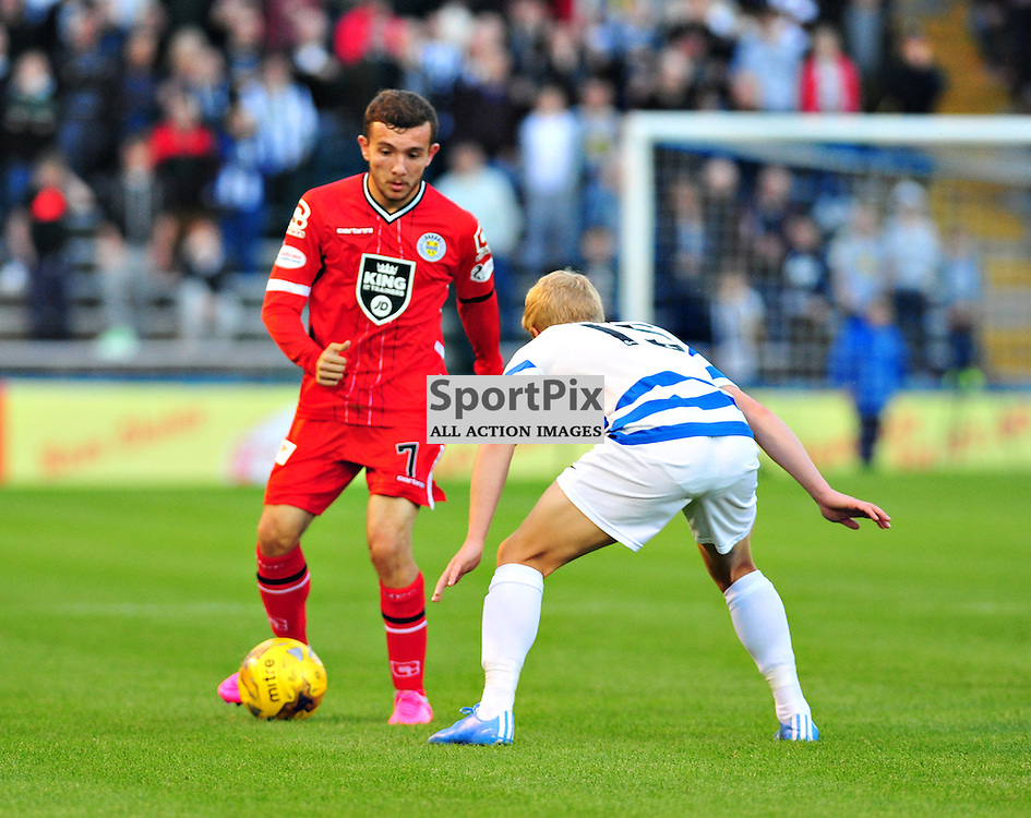 Paul McMullan of Saints in action against Morton<br /> <br /> (c) BILLY WHITE | SportPix.org.uk