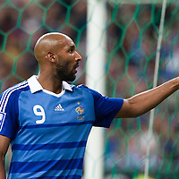 05 September 2009: French forward Nicolas Anelka is seen during the World Cup 2010 qualifying football match France vs. Romania (1-1), on September 5, 2009 at the Stade de France stadium in Saint-Denis, near Paris, France.