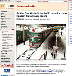 Financial Times Vladivostok railway