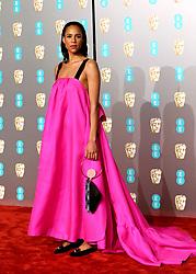 Zawe Ashton attending the 72nd British Academy Film Awards held at the Royal Albert Hall, Kensington Gore, Kensington, London.